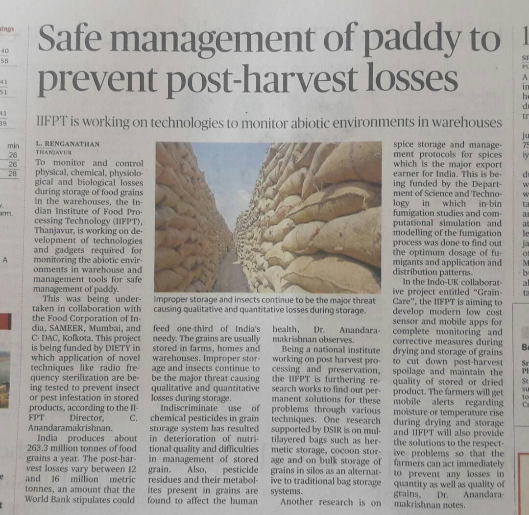 Graincare Featured in Newspaper